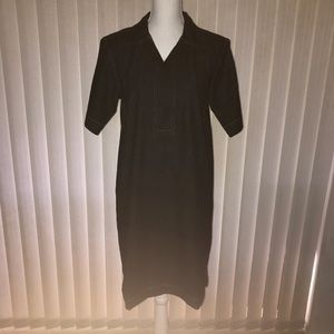 Lauren Ralph Lauren Denim Dark Wash Collared Dress